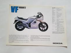 4) Honda VF 1000 F2 1985 Depliant Originale Moto - Genuine Brochures - Motorrad Originalprospekt - Moto