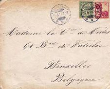 Lettre Île De JAVA Surabaya Soerabaja Indonésie Indonesië 1919 Bruxelles Belgique - Indes Néerlandaises