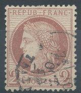 Lot N°36211  Variété/n°51, Oblit Cachet à Date De PARIS (R. Taitbout), Taches Blanches Derierre La Tête - 1871-1875 Ceres