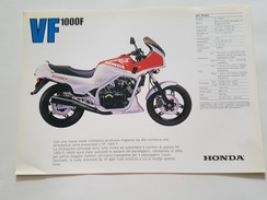 4) Honda VF 1000 F 1985 Depliant Originale Moto - Genuine Brochures - Motorrad Originalprospekt - Moto