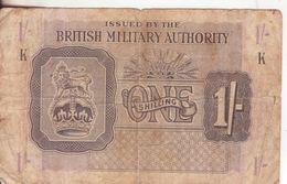 36-Inghilterra-Occupazione Inglese In Italia-Cartamoneta-Banconota Circolata 1 Scellino-Stato Di Conservazione: Mediocre - Forze Armate Britanniche & Docuementi Speciali