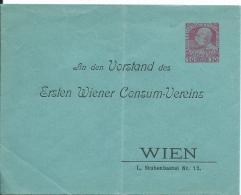 A3   Drucksache 10 Heller An Den Vorstand Des Ersten Wiener Consum-Vereisns Ca. Um 1910 - Briefe U. Dokumente