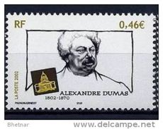 "Timbre France YT 3536 "" Alexandre Dumas "" 2002 Neuf - France"