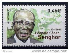 """Timbre France YT 3537 """" Léopold Sédar Senghor """" 2002 Neuf - France"""