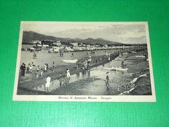 Cartolina Marina Di Apuania Massa - Spiaggia 1940 - Massa