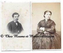 BEAUNE - M ET MME CONTOUR ALFRED - CDV PHOTO COCHEY - COTE D OR - DOCUMENT ANCIEN - GENEALOGIE - Personnes Identifiées