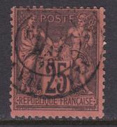 FRANCE 1877-80 Sage ( YT 91 ; Mi 74 ) Very Nice - 1876-1898 Sage (Type II)