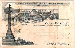 1895 Exposition Philomatique Bordeaux, Hotel Restaurant NICOLET LEFEBVRE Pont De La Mousque , Pas Voyagé, Litho Loterie - Bordeaux