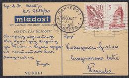 Yugoslavia 1963 Stationery Sent From Skoplje To Pancevo - 1945-1992 Repubblica Socialista Federale Di Jugoslavia