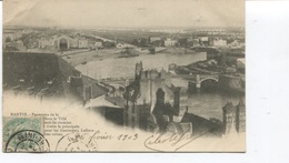 CPA - Nantes - Panorama  - Usine - Biscuiterie Lefèvre - Cachet Rond D'ANGOULEME En 1903- - Nantes