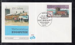 NL 10 ) Bund 2000 FDC - 100 Jahre Wetterstation Zugspitze - Briefe U. Dokumente