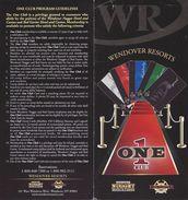 Wendover Resorts - Wendover Nugget & Red Garter Casinos - Paper One Club Card Tiers & Benefits Brochure - Advertising
