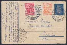 Yugoslavia 1952 Marshal Tito Postal Stationery Sent From Subotica To Medulin (week Condition) - Entiers Postaux