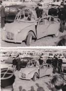 2  Photos  D'une 2 Cv Citroën Endommagée : Accident, Explosion, Attentat ???  : La Gendarmerie Veille !! - Auto's