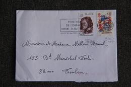 Timbre Sur Lettre : Y Et  T : N°1955 Et N° 2090 - 1961-....