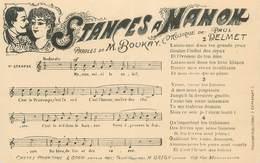 """CPA CHANSON ENFANTINE """" Stance à Manon"""" - Cartoline"""