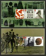 GB 2015 THE GREAT WAR WW1 FOOTBALL POPPIES PRESTIGE BOOKLET PANES MNH - 1952-.... (Elisabetta II)