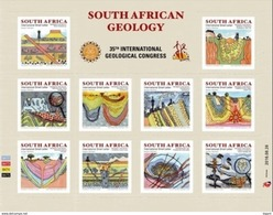 South Africa 2016 Geology Congress And World Heritage Ss Mint - Nuovi