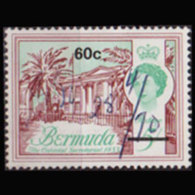BERMUDA 1970 - Scott# 252 Building 60c Used - Bermuda