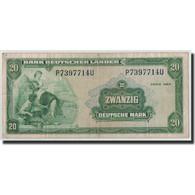 République Fédérale Allemande, 20 Deutsche Mark, 1949, KM:17a, 1949-08-22 - [ 7] 1949-… : FRG - Fed. Rep. Of Germany