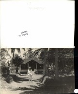 546489,Foto-AK Cambodia Kambodscha Palmen Haus - Ohne Zuordnung