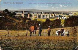 Salut De Morenest - Grand Viaduct (animée, Colorisée, 1922...pli Coin) - Plombières