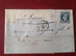 1853 MARSEILE Pour LYON N°10 - Marcophilie (Lettres)