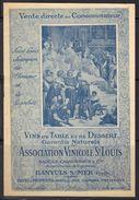 Banyuls S/Mer : Association Vinicole St Louis, Sagols Casadessus & Cie Propriétaire, Livret Tarif De Vente 1926. - Alimentare