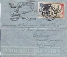 LETTRE. INDOCHINE. 4 5 1950. 20° ANNIVERSAIRE PREMIERE LIAISON PAR AIR FRANCE  UPU 3 PIASTRES - Indochina (1889-1945)