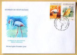 Azerbaijan  (Azerbaïdjan, Azerbajan)  2010. FDC. Azerbaijan-Kazakhstan Joint Issue. Ecology Of Caspian Sea. Fauna. Birds - Uccelli