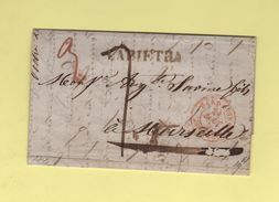 Lapietra - Destination Marseille - Courrier De 1845 - ...-1850 Préphilatélie