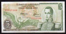 550-Colombie Billet De 5 Pesos Oro 1975 - 233 - Colombie