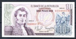 460-Colombie Billet De 10 Pesos Oro 1980 AZ056 Neuf - Colombie