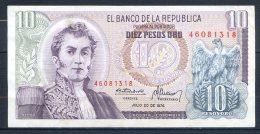506-Colombie Billet De 10 Pesos Oro 1976 - 460 - Colombie