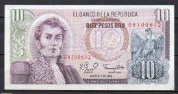 534-Colombie Billet De 10 Pesos Oro 1980 - 081 - Colombie