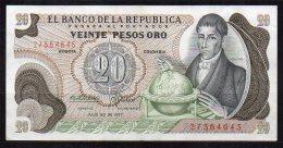 550-Colombie Billet De 20 Pesos Oro 1977 - 275 - Colombie