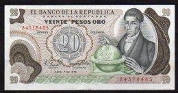 550-Colombie Billet De 20 Pesos Oro 1979 - 843 - Colombie