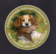 Autocollant.  Chasse.  Fédération Départementale Des Chasseurs Du Calvados. - Autocollants