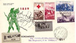 Fdc II GUERRA INDIPENDENZA 1959;raccomandata; AS_Solferino - F.D.C.