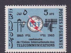 Afghanistan SG 546 1965 Centenary Of ITU MNH - Afghanistan