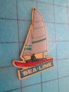 Pin813e Pin's Pins / BATEAUX / VOILIER LOISIR SEA-LINE REGATE  Rare Et De Belle Qualité !!! - Barcos
