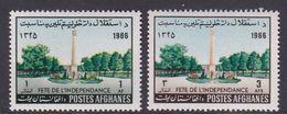 Afghanistan SG 570-571 1966 Independence Day MNH - Afghanistan