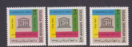 Afghanistan SG 589-591 1967 20th Anniversary Of UNESCO MNH - Afghanistan