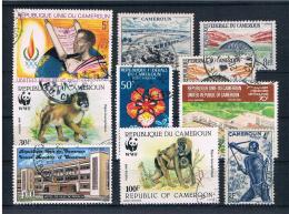 Kamerun Kleines Lot  10 Werte Gestempelt - Camerun (1960-...)