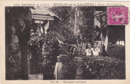 CARTE POSTALE  SANNOIS 95  Moulin De La Galette  Kiosques Rustiques - Sannois