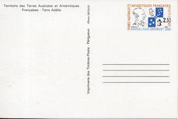 TAAF. Entier Postal. Hommage à L'amiral Max Douguet. 1991 - Enteros Postales