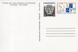 TAAF. Entier Postal. Hommage à L'amiral Max Douguet. 1994 - Enteros Postales