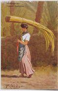 Portatrice Di Canne. Serie Costumi Della Riviera. Disegnatore Barone Von Kleudgen - Illustratori & Fotografie