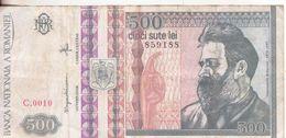 59-Romania-Cartamoneta-Banconota Circolata 500 Lei-Stato Di Conservazione: Più Che Mediocre - Rumania