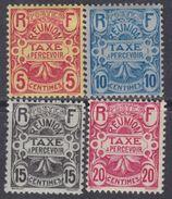Réunion Taxe  N° 6 / 9  X  POartie De Série;  Les 4 Valeurs  Trace De Charnière Sinon TB - Neufs